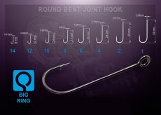 Crazy Fish cseburaska horog - Round Bent Joint Hook