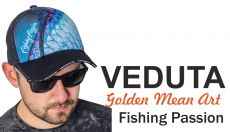 VEDUTA Fishing Passion Black baseball sapka