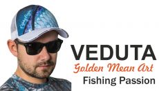 VEDUTA Fishing Passion White baseball sapka