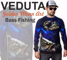 VEDUTA Bass Fishing Jersey póló